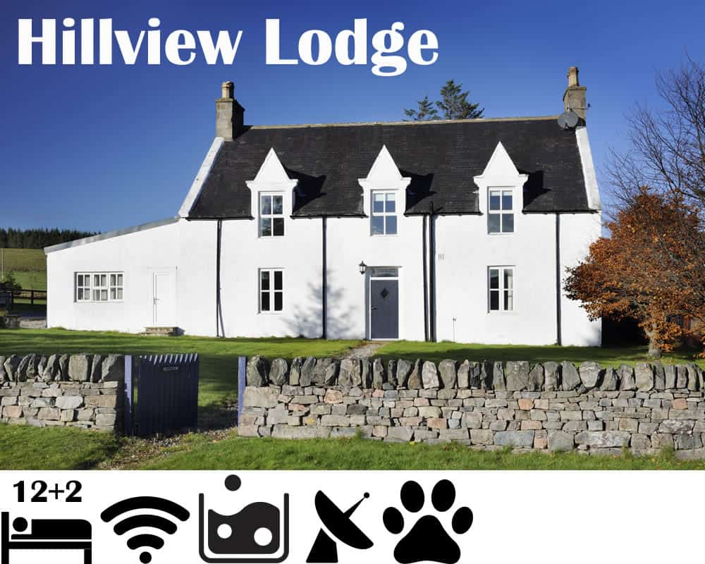 Hillview Cottages Self Catering Glenlivet sleeps 14 with Hot Tub